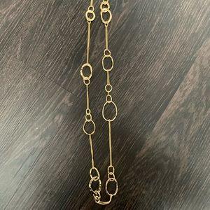 Long Hoop Necklace + Matching Earrings Set
